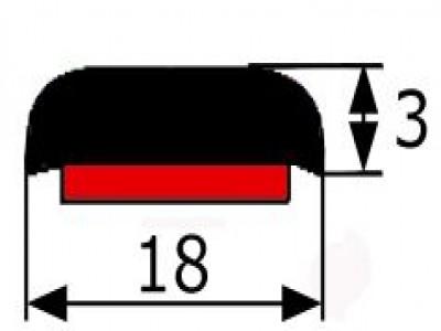 Moldura Adhesiva Cromada (3X18mm) Vendida Por Metros