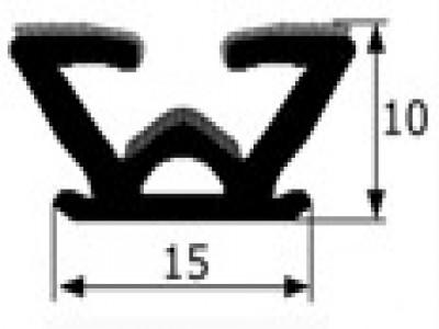Guía de cristal flocada 15mm vendida por metros