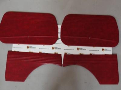Juego 4 Paneles Tapizados Burdeos Seat 600 E y L