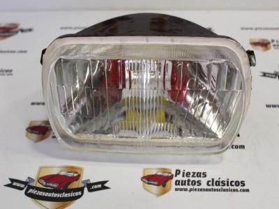 Optica de faro delantero plana Renault 12 Luz convencional Kinby REF 7701387058