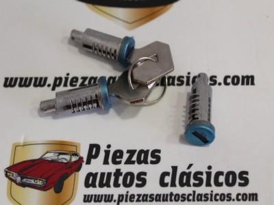 Juego de 3 bombines de cerradura con llaves iguales Renault 4, 5, 6, 7 y 12 Ref: 455324