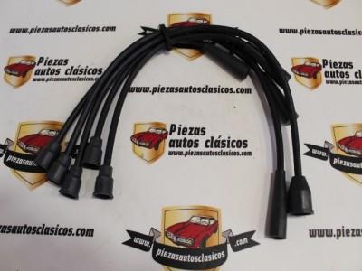Juego de Cables de Bujía Seat 124, 1430, 1200 Sport 1968-80, Ritmo, Ronda y Fiat Regata 70, 80 Desde 1983 (Antiguo Stock) Ref: FAE 8392/ FAE83050
