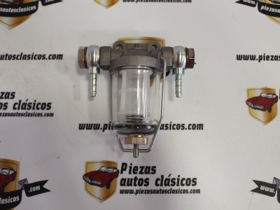 Filtro De Combustible De Cristal Para Tubo 6 mm