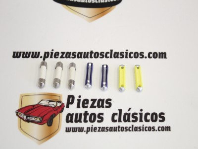 Kit 7 fusibles cerámicos 3x8 - 2x15 - 2x25 Amperios