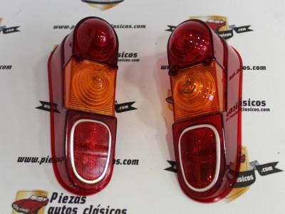 Pareja tulipas traseras con reflectante cromado Yorka Renault 4