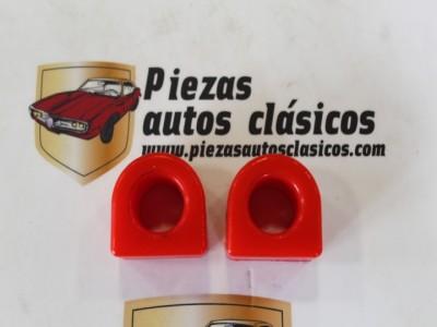 Pareja Gomas Estabilizadora 16mm. Renault 4, 5, 6, 7... De Poliuretano Rojo