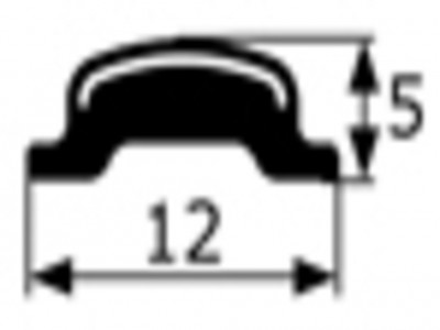 Junquillo cromado contorno luna Seat 850,128,124 Renault 4, 5,6,7....,vendido por metros