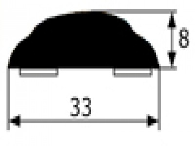 Moldura adhesiva negra Renault 5,7,12 y 18 vendida por metros