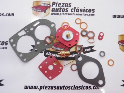 Kit reparación carburador Solex 32/34 PBICA Peugeot 504,404 Citroën 2CV, DS,11CV, Renault gordini, florida...