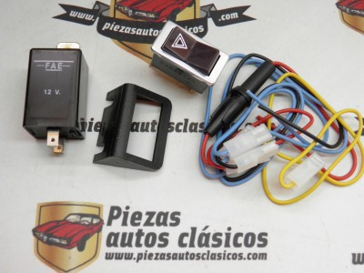Kit instalación luces emergencia warning Simca 12V