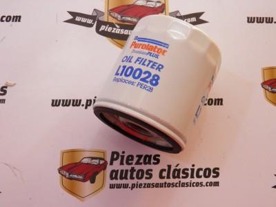 Filtro de aceite L10028 Nissan 100 NX, 2005 X, 300 ZX, Almera, Primera, Terrano I/II, Vanette Suzuki Grand Vitara, Samurai