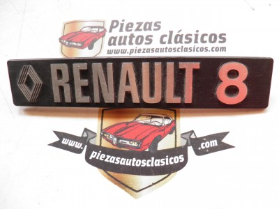 Anagrama Renault 8 metálico