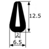 ML Perfil de goma Guarda vivos (Vendido por metros)