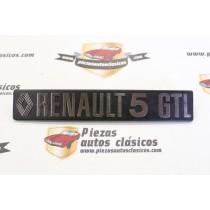 Anagrama Trasero Renault 5 GTL