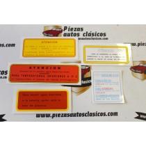 Pegatinas Motor Seat, kit 5 unidades