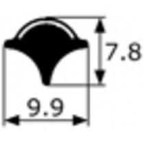 Junquillo cromado contorno luna Simca 1000-1200, renault 4,8...., vendido por metros