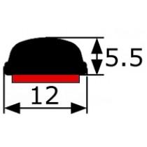 Moldura Adhesiva Cromada (5,5x12mm) Vendida Por Metros