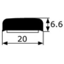 Moldura adhesiva negra Renault 4 y 6 vendida por metros