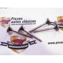 Juego 4 válvulas de escape (29x7x89) motor C1C  Renault 4, 8, 10, 12, Florida, Caravelle, Estafette