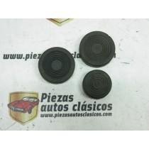 Kit 3 Gomas Cubre Pedales Renault 4/4, Gordini...