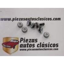 Juego 8 retenes de válvula Teflón  Renault  9, 11, 12 y Super 5 GT Turbo  7mm.  Ref: 7700658325