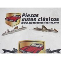 Par de anagramas laterales Renault Alpine