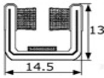 Rollo de 10m de guia de cristal articulada 14mm