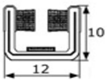 Rollo de 10m de guia de cristal articulada 12mm