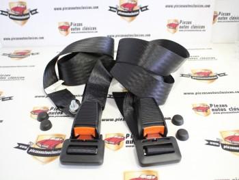 Pareja de cinturones de seguridad con fijación flexible, 2 puntos fijos Citroën 2CV, Mehari