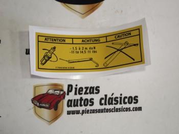 Pegatina par de apriete bujía Renault 5, Alpine y Alpine turbo