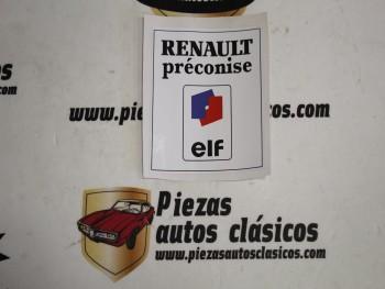 Pegatina ELF Renault 5, Alpine y Alpine turbo
