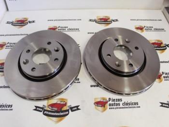 Pareja Discos De Freno Renault 21 2.1 Diésel y 2.1 Turbo D ( 244x20,5 ) Ventilados Ref: 7701204954