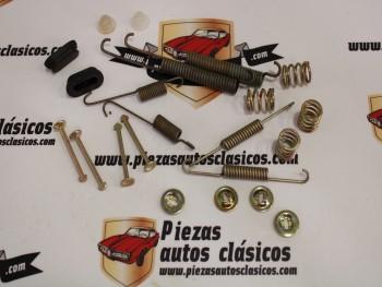 Juego accesorios zapatas de freno traseras Renault Laguna, Clio, Peugeot 106 II, 206, 306 Ref: 7701206972