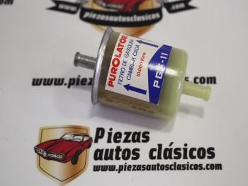 Filtro gasolina universal Purolator 11-1 diámetro 8mm