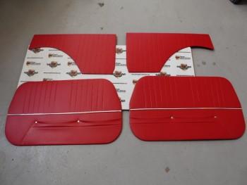 Juego 4 Paneles Tapizados Seat 600 E y L Rojo (Antiguo Stock)