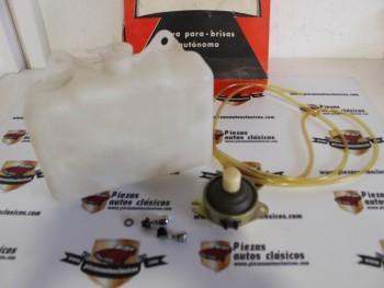 Kit botella (2l.) + 2 difusores + bomba limpiaparabrisas de pie Transpar 17.1005  Barreiros, DKV, Jeep, Mercedes, Pegaso, Seida, Van Hool
