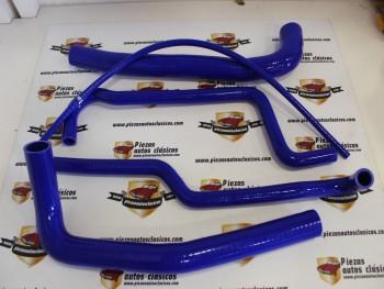 Kit 4 Manguitos Silicona azul De Radiador Renault 4 ( Motores 1.108cc)