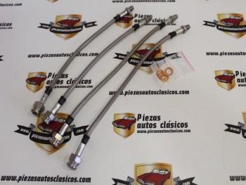 Juego 4 Latiguillos De Freno Renault 8, 10 y Alpine A110 (metálicos)