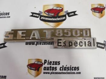 Anagrama trasero Seat 850 D Especial 22,7cm. (plástico)