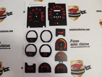 Kit Diales Cuadro Renault 5, Alpine, Alpine Turbo, Copa, Copa Turbo