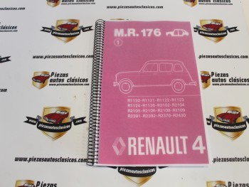 Manual De Reparación 176 (carroceria)  Renault 4   copia encuadernada