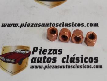 kit 4 Tuercas De Cobre Sujección De Turbo Metríca 10 Para Llave De 14mm