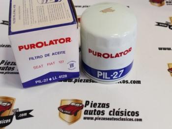 Filtro De Aceite Seat 127 , Adaptable a Seat 124 Purolator PIL-27