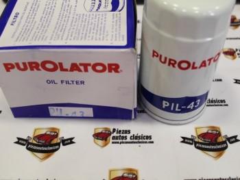 Filtro De Aceite Motor Barreiros C60, C65, 42/25... Purolator PIL-43