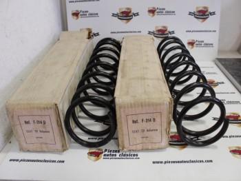 Pareja Muelles Suspensión Delanteros Seat 131 Diésel Hasta 9/81 (Antiguo Stock)