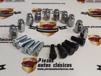 Kit 5 pernos de rueda delanteros , 5 traseros y 10 tuercas cromadas Dodge Dart (para frenos delanteros de tambor)