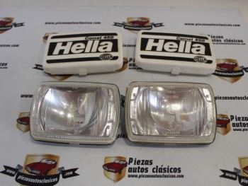 Pareja Faros Hella 1FB119923-00 Jaguar , Porsche , BMW...(falta una patilla sujección,sin portalámparas, ver fotos)