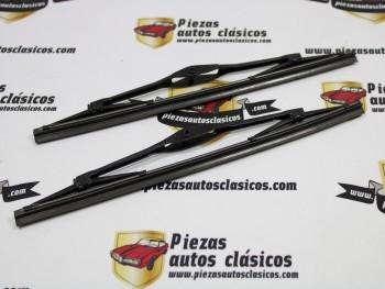 Pareja Escobillas Limpiaparabrisas 28cm Negras Renault 4 y Seat 600 Para Aprovechar Clips de Sujeción Anteriores (Antiguo Stock)