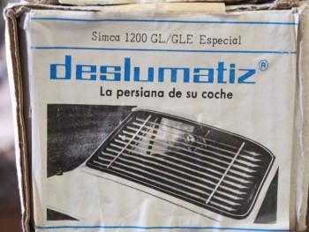Persianilla trasera Simca 1200 GL / GLE Especial