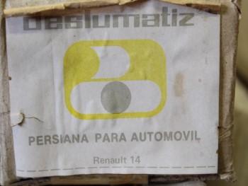 Persianilla trasera Renault 14